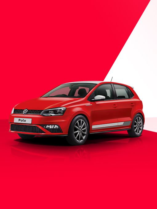 Volkswagen Polo Red and White