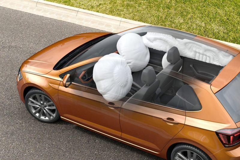 Αερόσακοι στο Volkswagen Polo, μπροστά και στο πλάι.