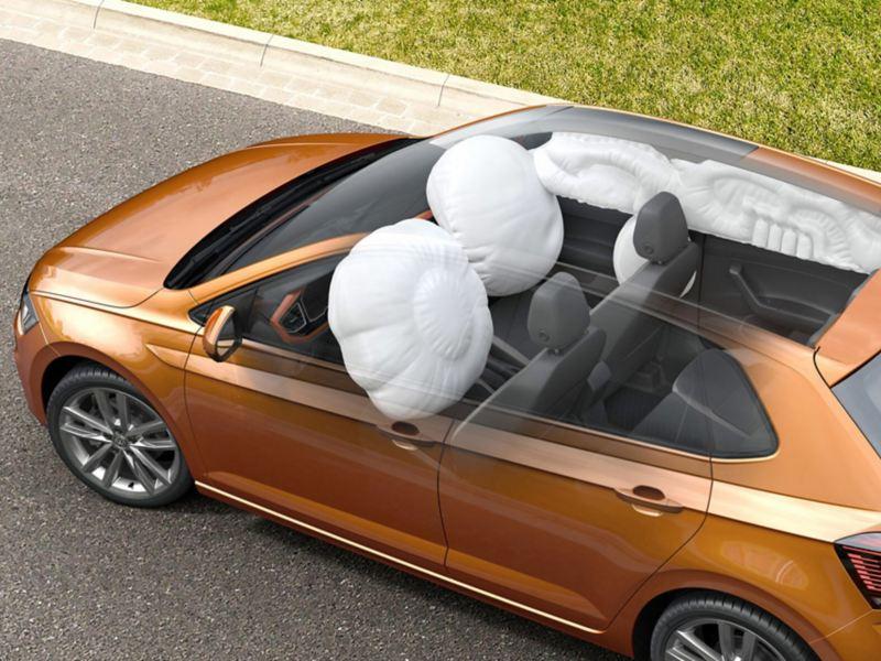 Airbags im VW Polo, vorne und an der Seite