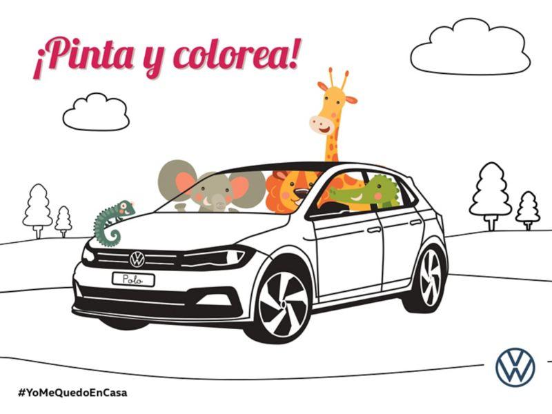colorea tu VW Polo