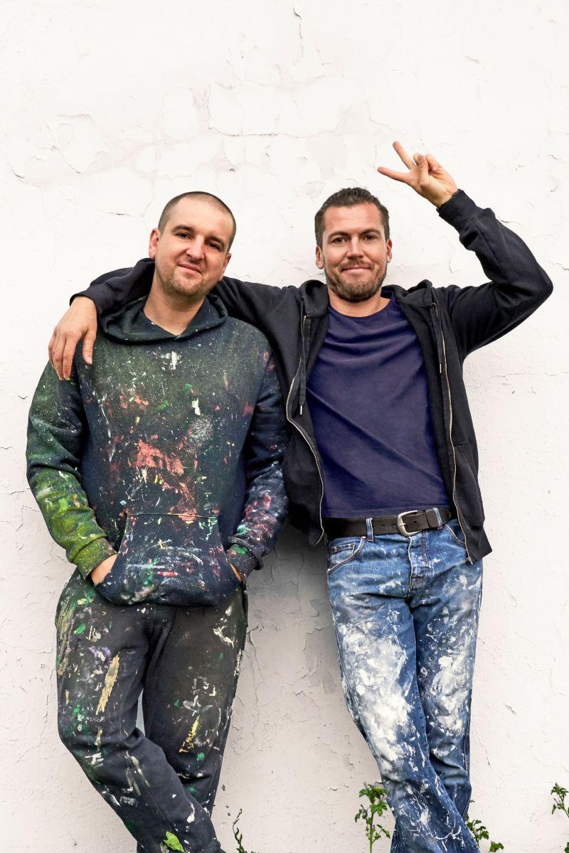 Cezary und Piotr in der Halbtotale