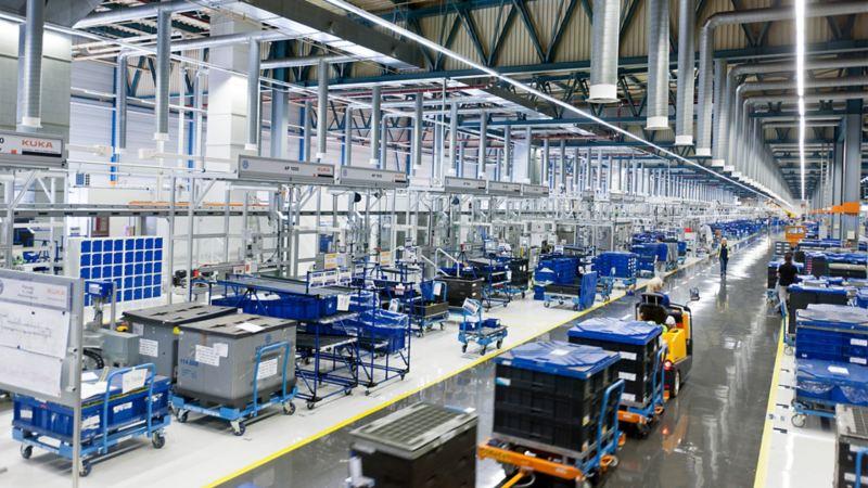 Produktionshalle im Werk Salzgitter