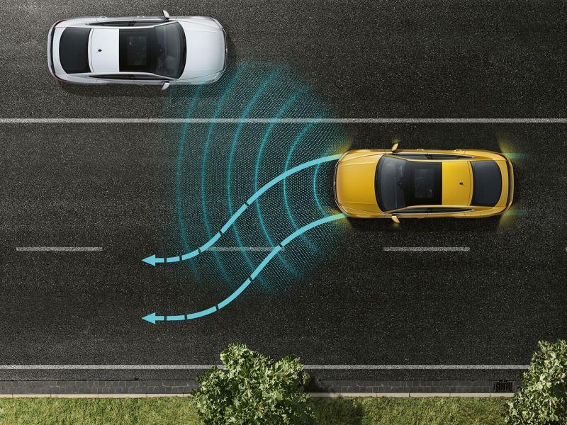 Lane assist graphic