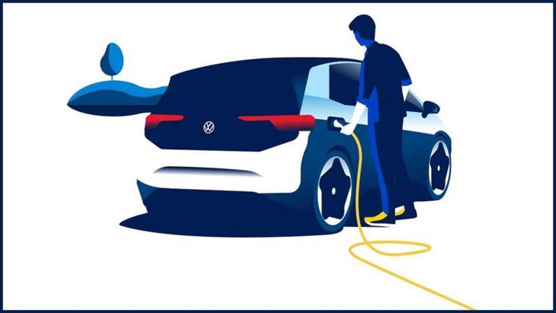 Illustration graphique de l'electro-mobilité