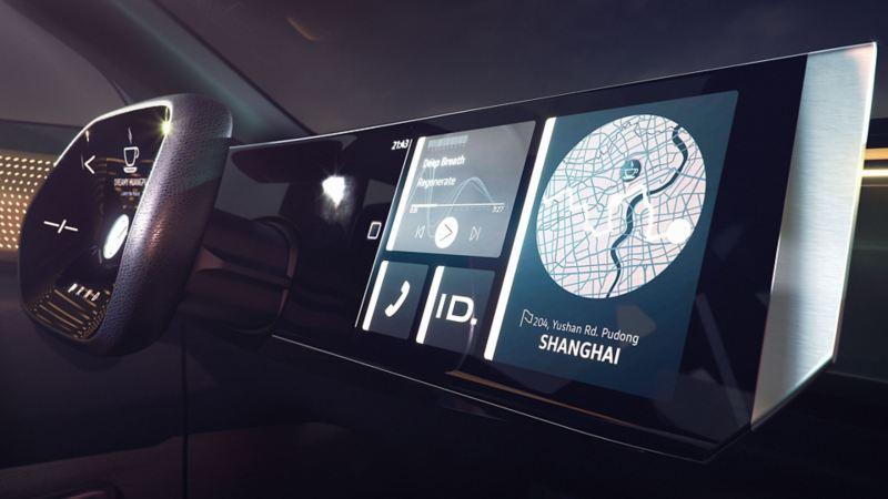 Volkswagen ID. ROOMZZ digital cockpit