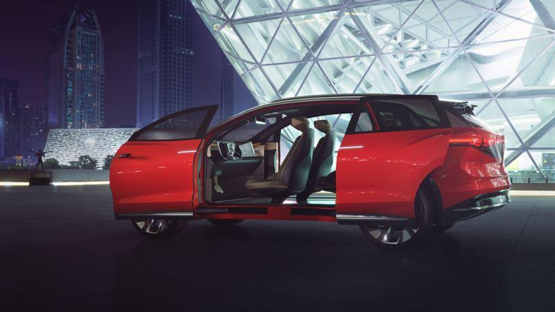 Volkswagen ID. ROOMZ med åpne dører