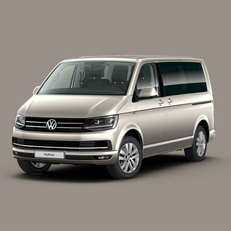 Der VW Multivan im Halbprofil.