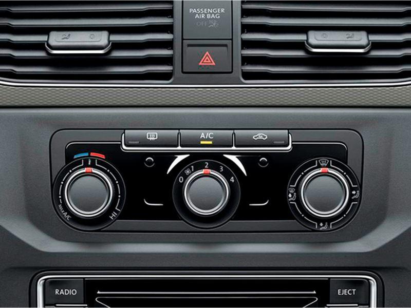 Sistema Climatronic na Volkswagen Caddy.