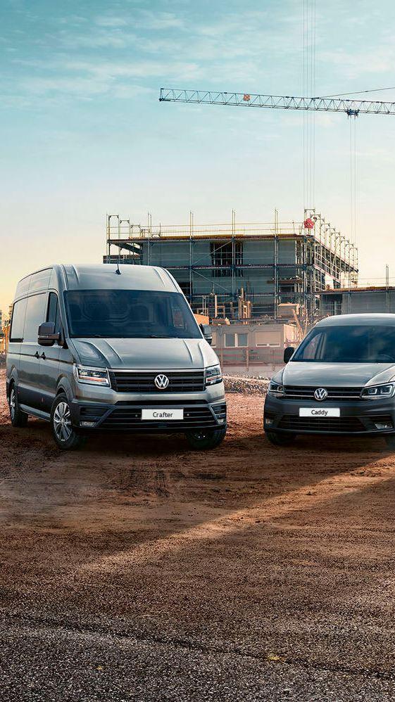 A pick-up Amarok, as carrinhas Caddy, Transporter e Crafter da Volkswagen Veículos Comerciais.
