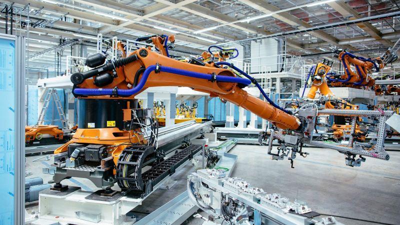 Neue Roboter für die Produktion von Elektroautos in Zwickau