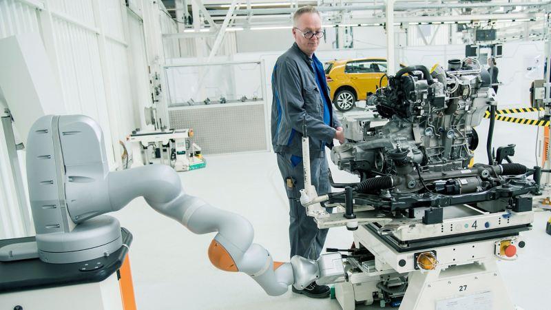 Zusammenarbeit von Mensch und Roboter