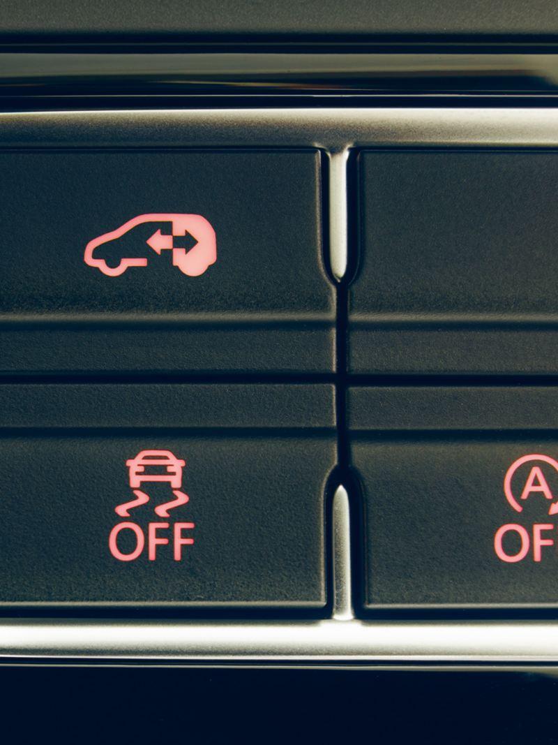 Kontrollknapp för elektroniska skjutdörrar.
