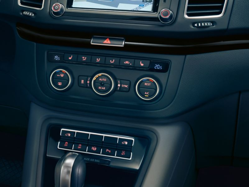 Air conditioning system controls at front.
