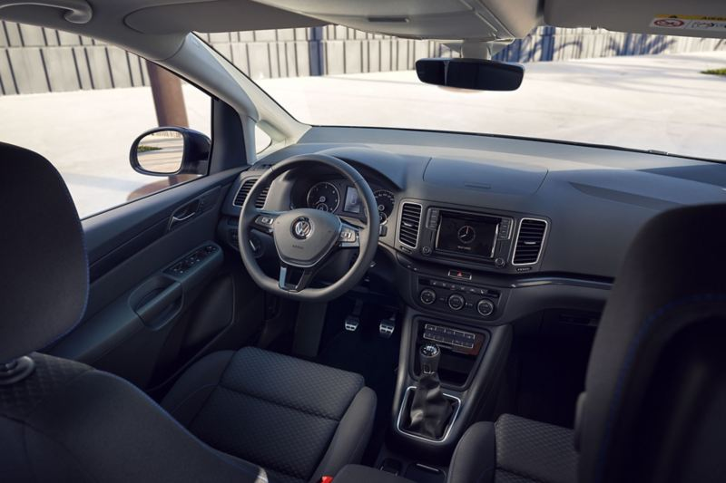 VW Sharan UNITED Interieur Shot auf Cockpit
