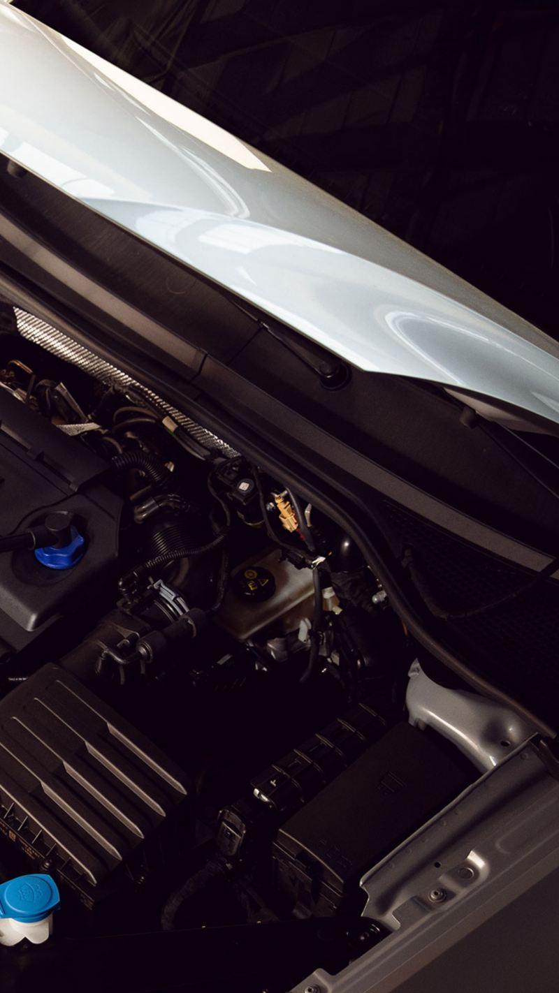 Meccanico VW Service rabbocca liquido refrigerante con Volkswagen Coolant G13.