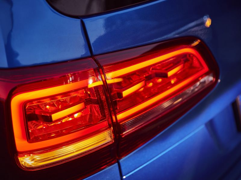 The left rear light of the Sharan