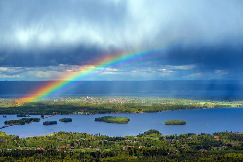Sjön Siljan i Dalarna