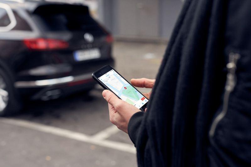 Auto-partage avec l'application We Park de Volkswagen
