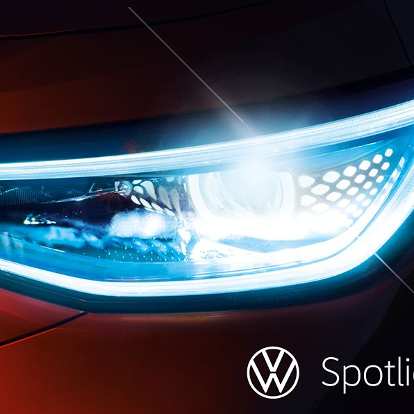Image of a customer with an ID.4 registered for VW Spotlight