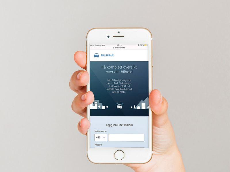 Mitt Bilhold vw Volkswagen varebiler bestille service merkeverksted iphone app