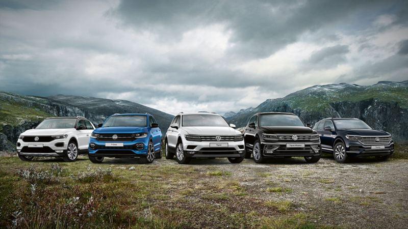 Volkswagens SUV-familien på fjellet