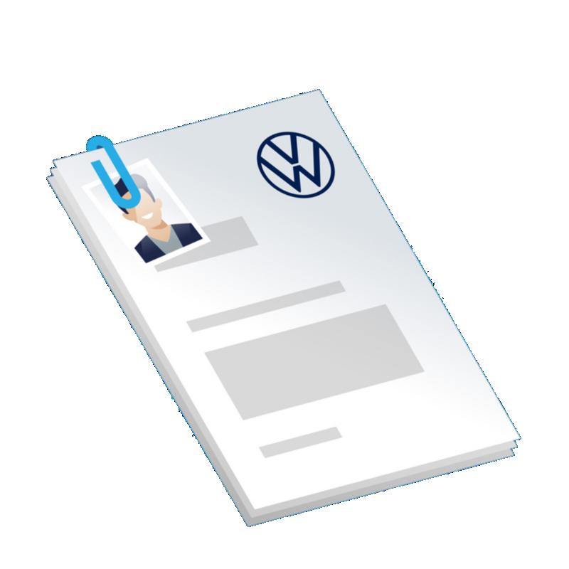 Illustration Bewerbungsunterlagen
