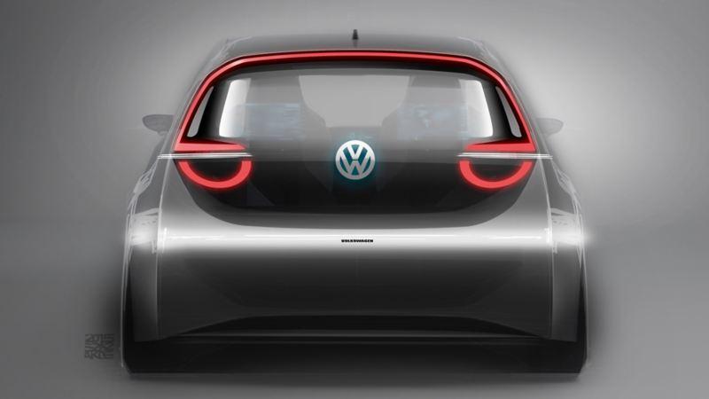 Volkswagen ID.3 in sosta, vista posteriore