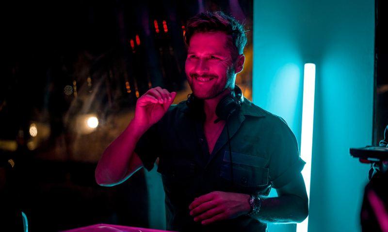 Daniel Klein DJing at Club IT on Ibiza
