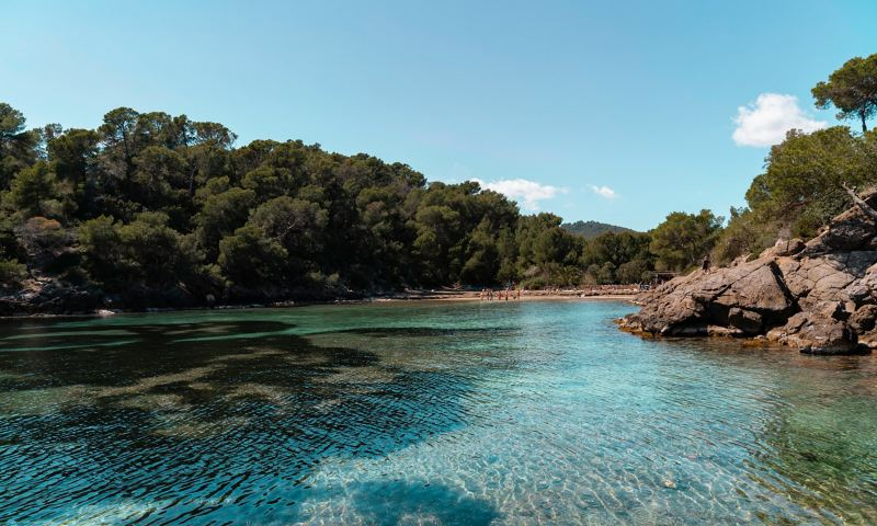 Picturesque bay on Ibiza