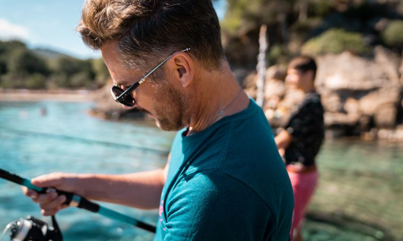 Daniel Klein fishing at Calla Mastella