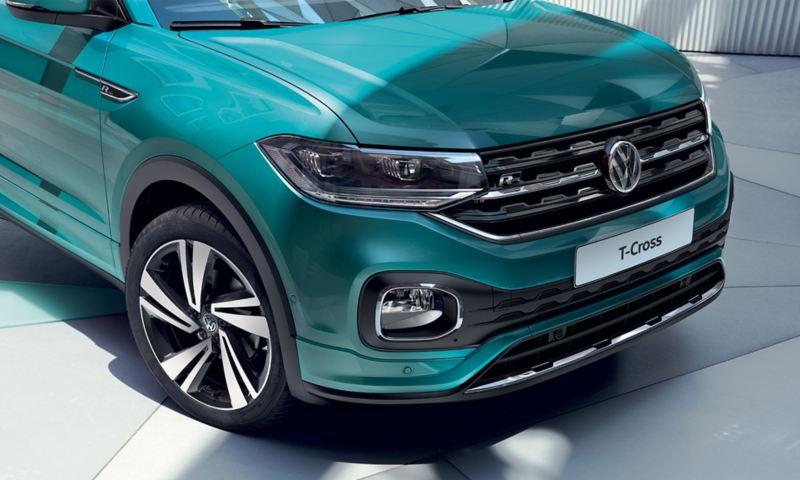 Volkswagen T-Cross foto degli esterni particolare frontale