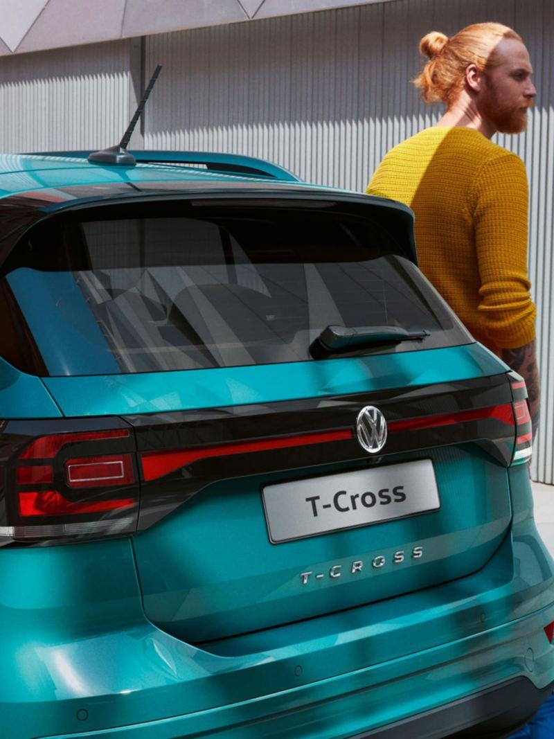 Volkswagen T-Cross foto degli esterni particolare posteriore