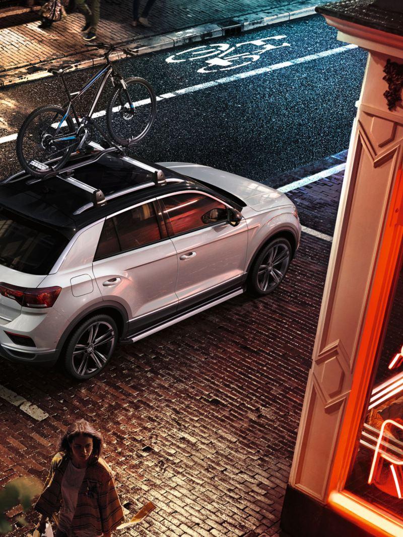 Volkswagen T-Roc con portabici montato