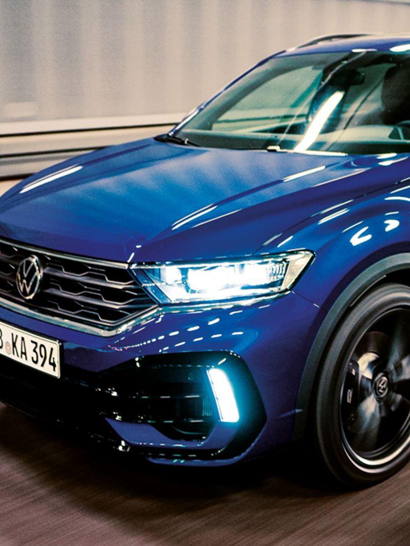 VW T-Roc Fahrschuss, R 3/4 Frontansicht