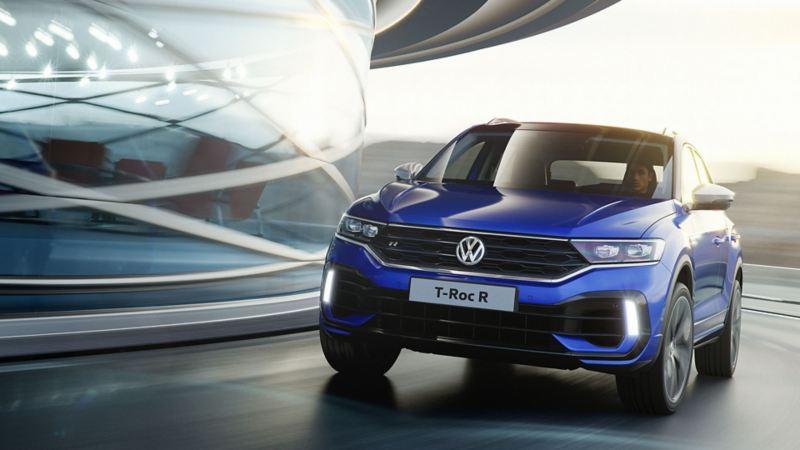 Volkswagen T-Roc R front i sving