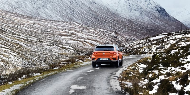 The T-Roc from behind
