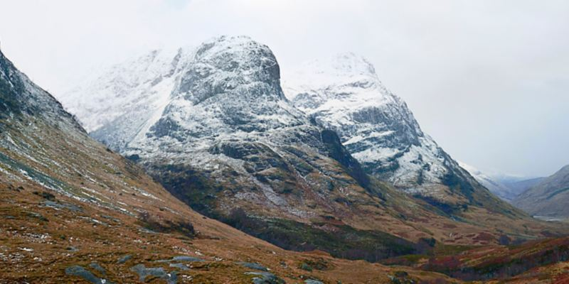 The impressive rocks of Glencoe
