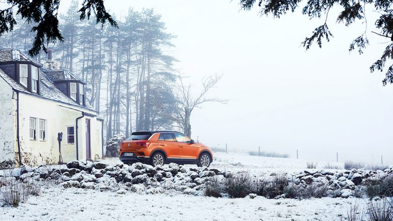 The T-Roc in the snow