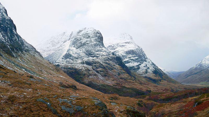 Die imposanten Felsen von Glencoe
