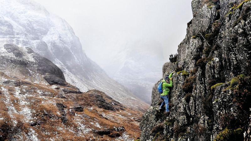 Andy Nelson an der Steilwand im Glen Coe