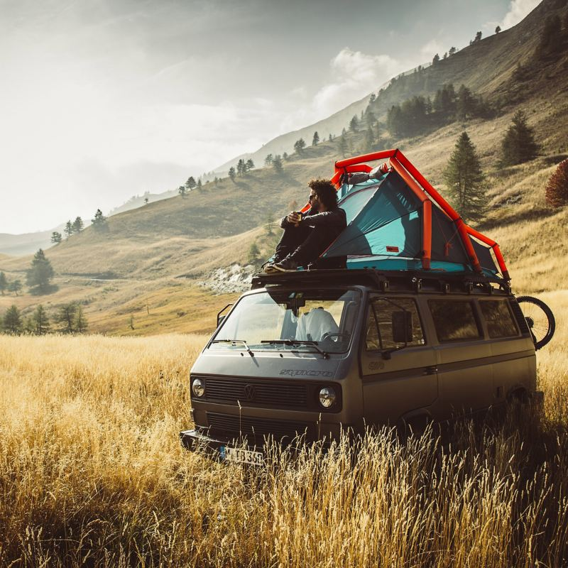 Rob Heran and his T3 with roof tent