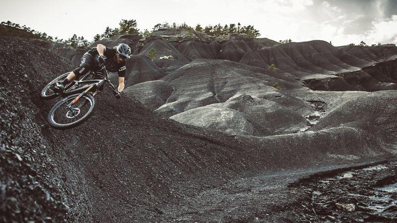 Rob Heran with his mountain bike