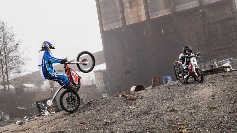 Oset eldriven trialmotorcykel