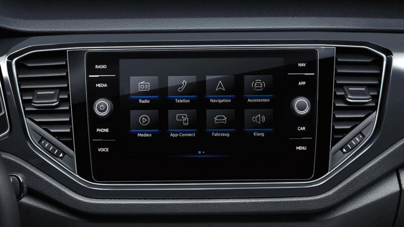 Discover Media underholdning infotainment system i Volkswagen T-Roc