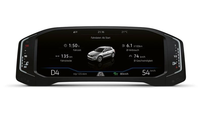 Active Info Display utsnitt i Volkswagen T-Roc
