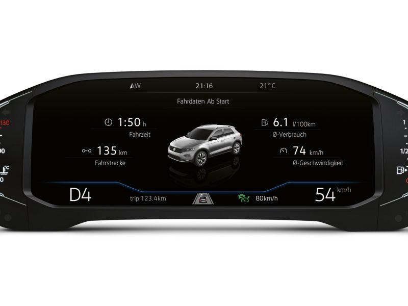 Digital Cockpit utsnitt i Volkswagen T-Roc