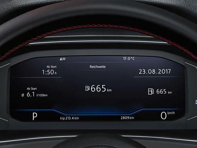 T-Roc, Digital Cockpit con informazioni di marcia
