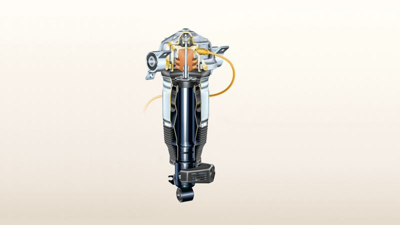 Image of a Volkswagen air suspension system