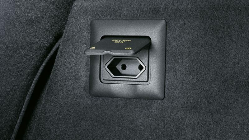 Image of a socket in a VW Touareg