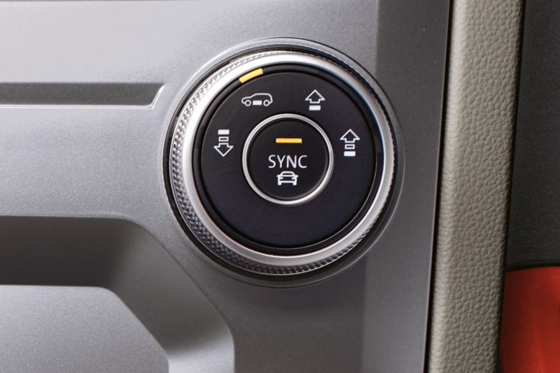 Air suspension switch in the VW Touareg